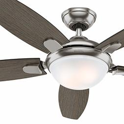 """Hunter Fan 54"""" Contemporary Ceiling Fan with LED Light Kit a"""