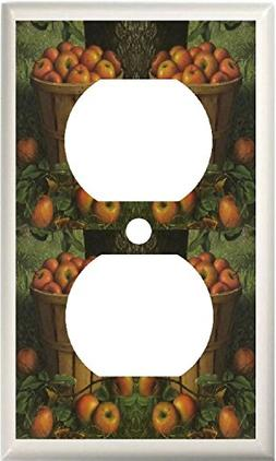 COUNTRY APPLES BASKET KITCHEN DECOR LIGHT SWITCH COVER PLATE