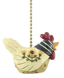 Country Chicken Hen Ceiling Fan Pull Light Pull Chain