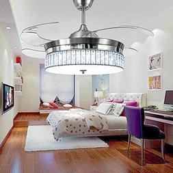 RS Lighting Crystal Ceiling Fans with Light and Remote Retra
