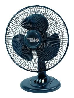 Comfort Zone Oscillating Table Fan | Portable, 3 Speed, Blac