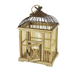 Sagebrook Home 12450 Decorative Wood Birdcage, 10.25 x 8.25