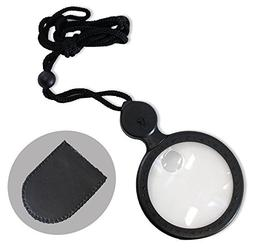 """2"""" Diameter Black Framed 3.5X, and 8 X Power Magnifier In Bl"""