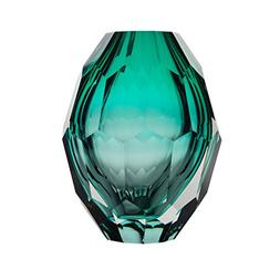 CASAMOTION Diamond Solid Color Hand Blown Art Glass Vase, Gi