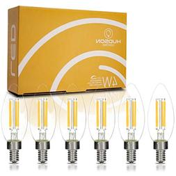 Dimmable LED Candelabra Light Bulbs: 4 Watt, 2700K Teardrop