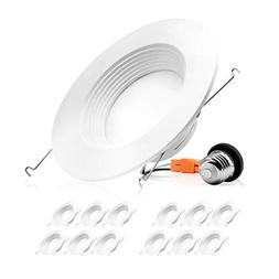12 Pack- 5/6-inch Dimmable LED Downlight, 12W 100W Replaceme