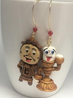 Disney Inspired Beauty and the Beast Earrings Lumiere and Co