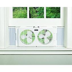 Dual window fan with 2 speeds, comfortable