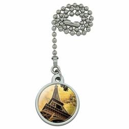 Eiffel Tower Paris Vintage Ceiling Fan and Light Pull Chain