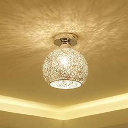 Gotian Elegant Modern Alloy Ceiling Light in Round Shape, Fl