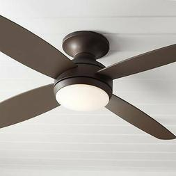"52"" Casa Elite Oil-Rubbed Bronze LED Hugger Ceiling Fan"