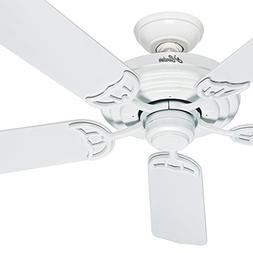 "Hunter Fan 52"" Outdoor ENERGY STAR Ceiling Fan in White with"