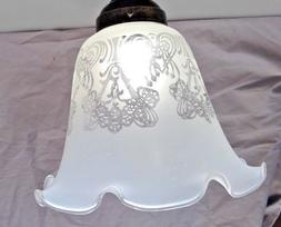 Etched Lamp Glass Shade Fixture Replacement Ceiling Fan Floo