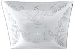Litex Etched White Traditional Bedrooms Glass Square Ceiling