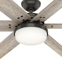 "Extra Large 64"" Bronze 6 Blade Ceiling Fan Remote Transition"