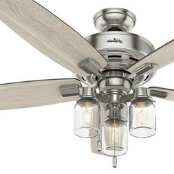 Hunter Fan 52 inch Brushed Nickel Ceiling Fan with LED Light