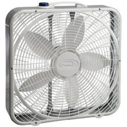 "Lasko 3723 20"" Premium Box Fan, White"