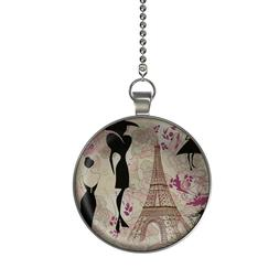 Fashions of Paris Ceiling Fan / Light Pull Pendant with Chai
