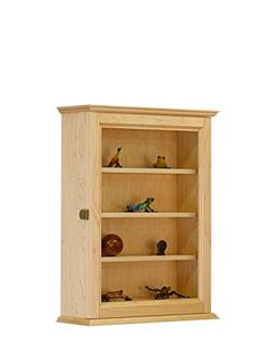 Figurine Display Wall Cabinet- Maple Hardwood *Made in the U