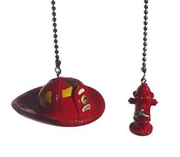 Fireman Hat & fire fighter water Hydrant SET of 2 - Ceiling
