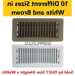 FLOOR REGISTER Steel AC Vent Heat Air Duct Cover Grille Meta