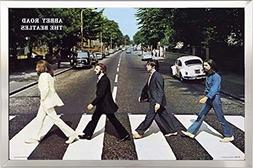 FRAMED The Beatles- Abbey Road 24x36 Poster in Real Wood Bru
