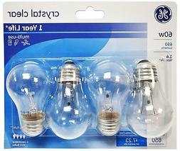 GE Lighting 60 Watt, 650 Lumens A15 Clear Ceiling Fan Bulbs