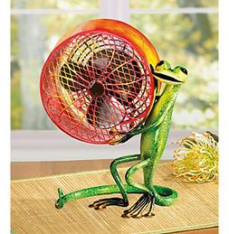 Deco Breeze Gecko Figurine Fan