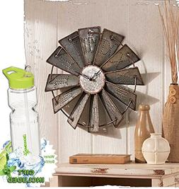 Gift Included- Country Decor Metal Windmill Rustic Country P