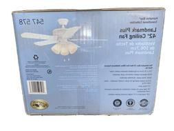Hampton Bay Glendale 42 in. White Ceiling Fan  FREE SHIPPING