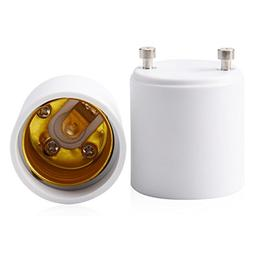 JACKYLED GU24 to E26 E27 Adapter 2-pack Heat Resistant Up to
