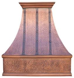 Sinda H7LTR Copper Range Hood with Profession Liner & Intern