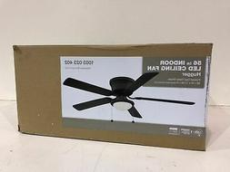 Hampton Bay Hugger 56 in. LED Espresso Bronze Ceiling Fan AL