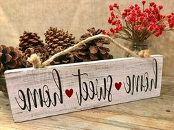 HOME SWEET HOME - Handmade Reclaimed Wood Sign Rustic Countr
