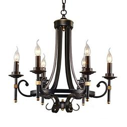HOMEANGEL Traditional Chandeliers, Vintage 6-light Candle Pe