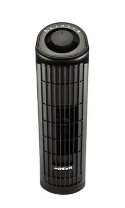 Holmes HTF1363B-BU 2-Speed Oscillating Mini Tower Fan, 14-In