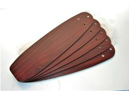 """HUNTER CEILING FAN NEW PARTS - CHERRY/MAPLE 22 1/2"""" BLADES"""
