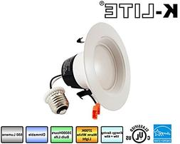 """K-LITE 4""""-Inch LED Retro Fit Recessed Downlight Fixture Dimm"""