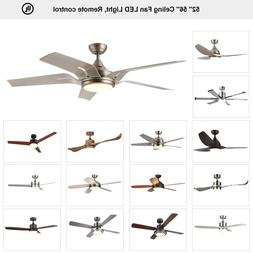 Indoor Ceiling. Fan 15W LED Light With Remote Control 2 3 4