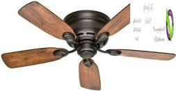 Indoor Low Profile Iv Ceiling Fan, With Pull Chain Control -
