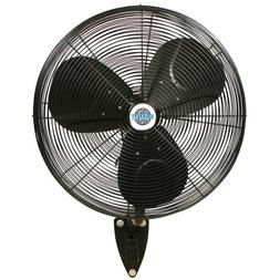 "24"" Durafan Indoor/Outdoor Oscillating Wall Mount Fan - Blac"