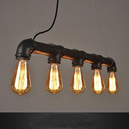 WINSOON INDUSTRIAL STEAMPUNK LAMP IRON PIPE CEILING ISLAND F
