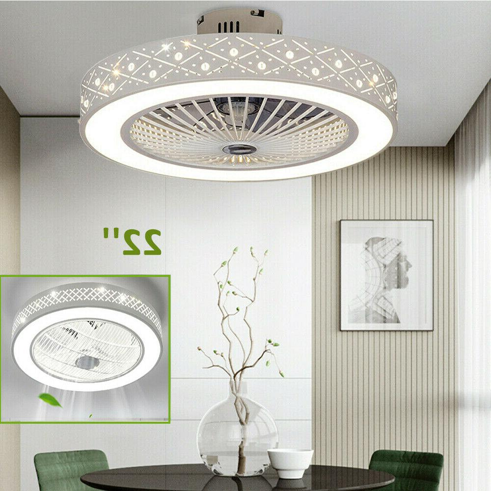 22 round ceiling fan light remote control