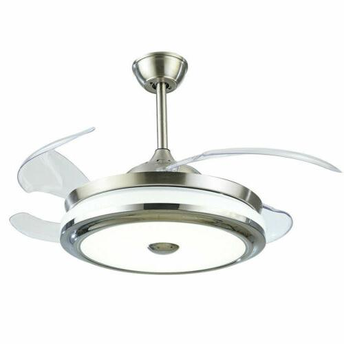 """36""""/42""""Modern Ceiling w/LED Music Retractable"""