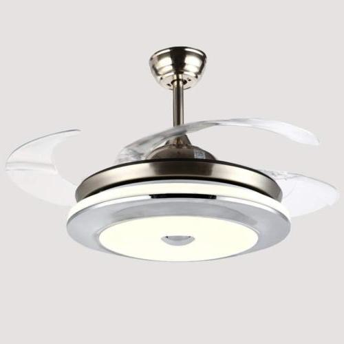 """36"""" Modern Ceiling Fan Light LED Dimmable Remote Control Ret"""