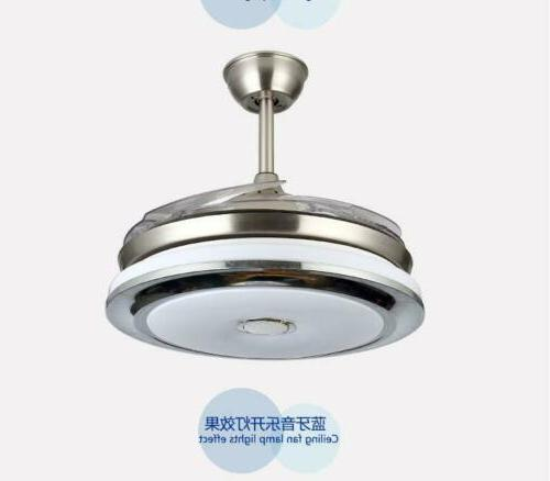 """36""""/42""""Modern Ceiling Fan Light w/LED Music Player Retractable"""
