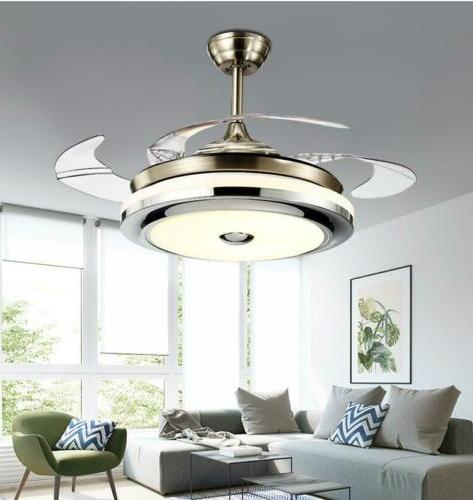 """36""""/42""""Modern Fan w/LED Music Player Retractable"""
