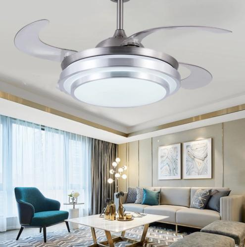 Modern Invisible Ceiling Fan Light LED Fixture w/