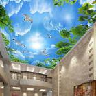 3D Sitting room bedroom TV background ceiling contracted sky