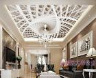 3D Sitting room bedroom TV background ceiling fashion mural